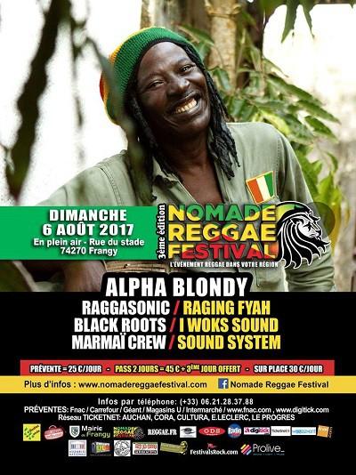 alpha blondy, nomade reggae festival, frangy