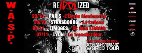 WASP, USA, heavy, tour, europe, 2017, reidolized tour, The Crimson Idol