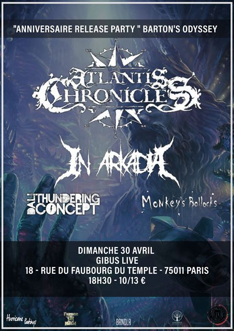 atlantis chronicles, in arkadia, french, death metal, france, paris, 2017