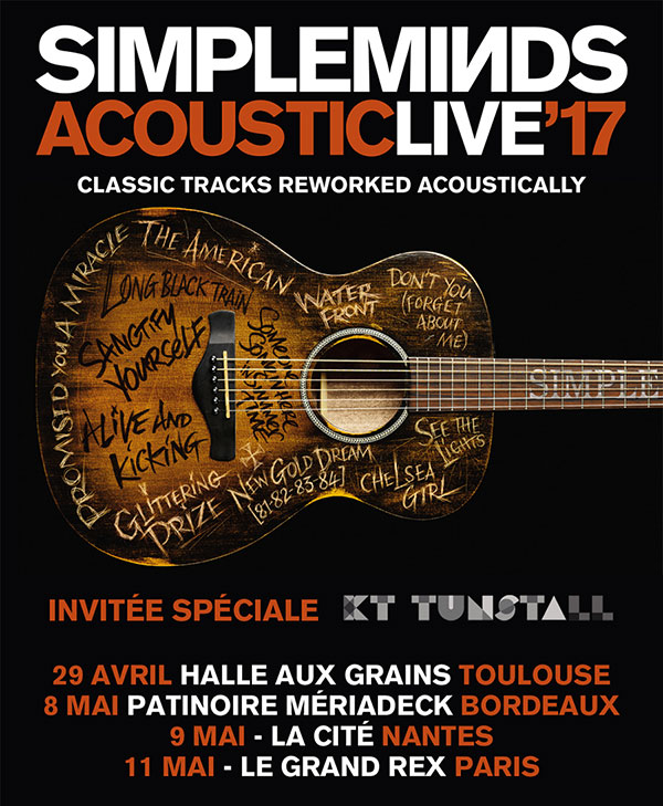 Simple Minds, Acoustic live, le Grand Rex, tournée française