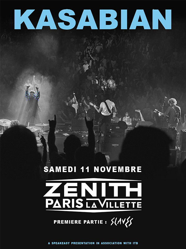 Kasabian, nouvel album, for crying out loud, zénith de Paris, concert, 11 novembre 2017