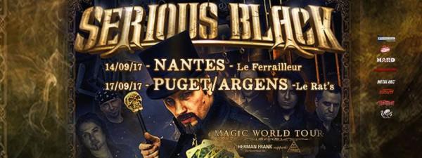 serious black, magic, tournée, sortie, 2017, rentrée, concert, live, power metal, melodique