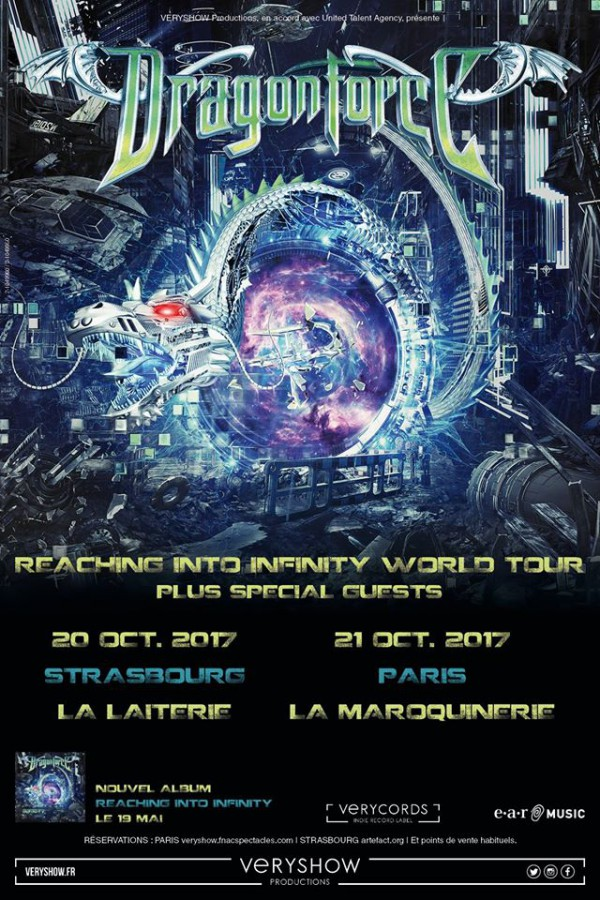 dragonforce, reaching into infinity, maroquinerie, laiterie, concert, live, tournée, 2017, power