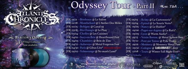 Atlantis Chronicles, Barton's Odyssey, tour, Reims