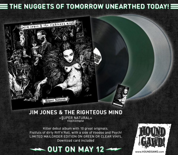 Jim Jones & The Righteous Mind - Release Hound Gawd