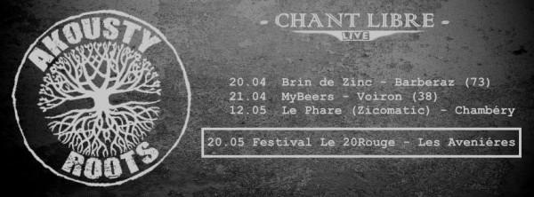 Quelques dates tournée Akousty  Roots