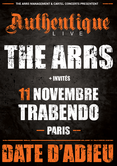 the arrs, metalcore, france, paris, fin, tour, 2017, rise of the north star