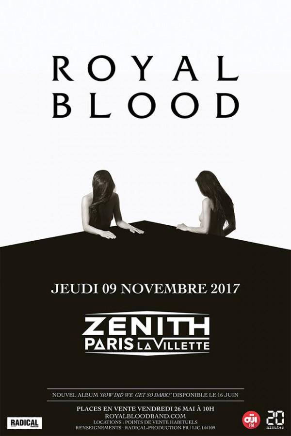 royal blood, concert, paris, 2017, radical productions, nouvel album, rock