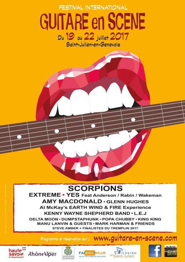 festival, guitare en scene, scorpions, yes, popa chubby