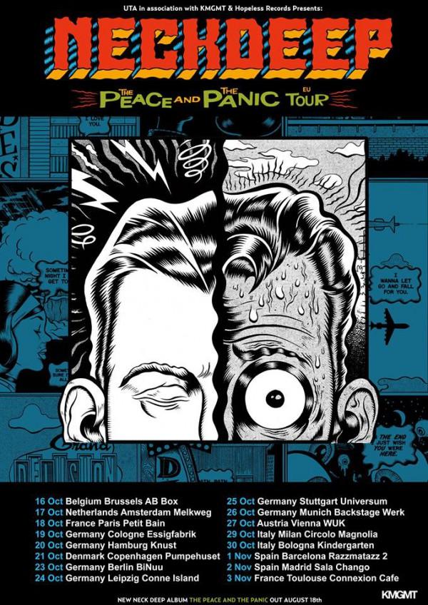 tour, europe, pop punk, paris, toulouse, france, rock, neck deep