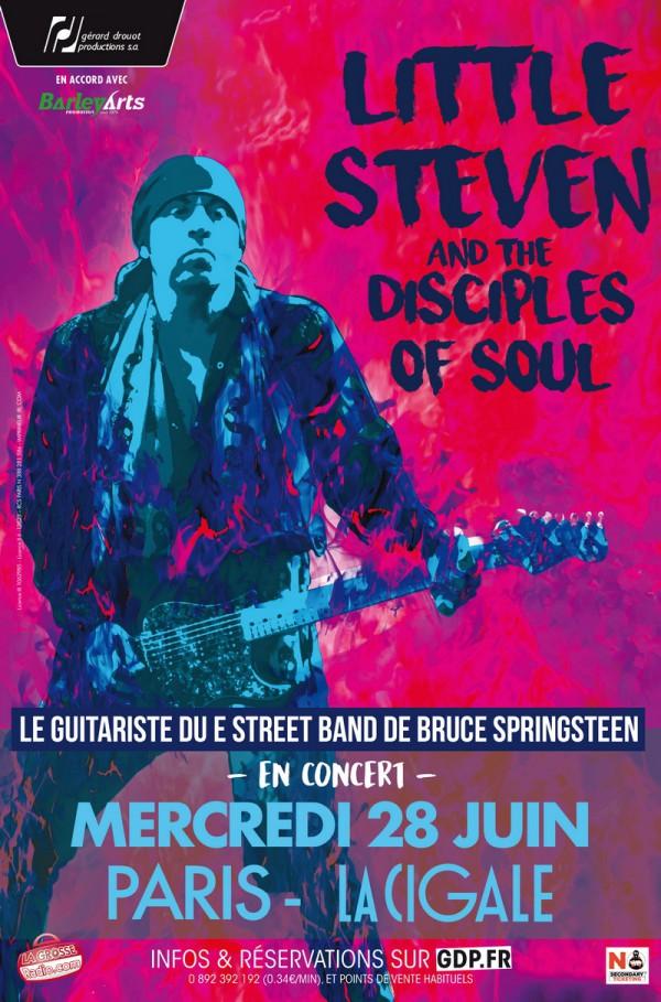 Little Steven & The Disciples Of Soul - Flyer Paris 2017