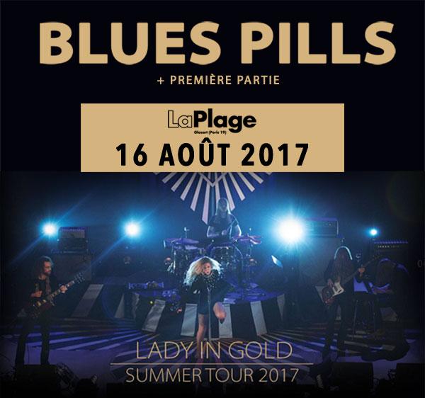 Blues Pills, la Plage glazart, glazart, Paris, Lady in Gold