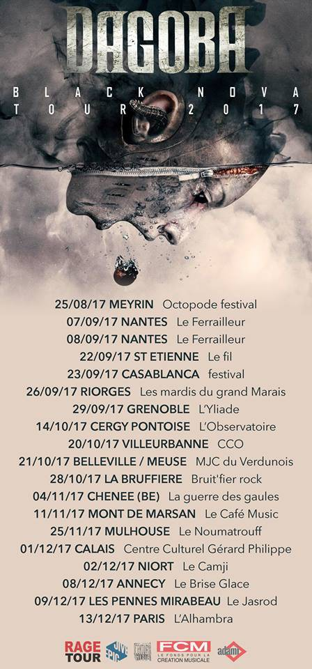 Dagoba, black nova, inner sun, ferrailleur, concerts, live, sortie, new album, marseille