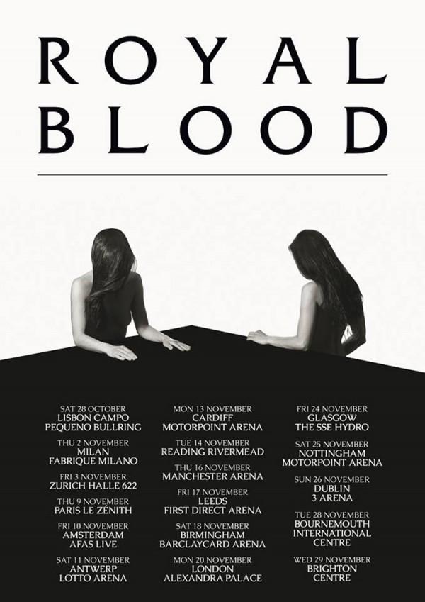 royal blood, euro tour, uk, france