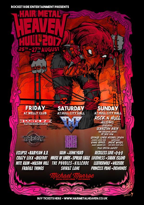 Hair Metal Heaven, Festival, Angleterre, 2017, août, summer, hardline, treat