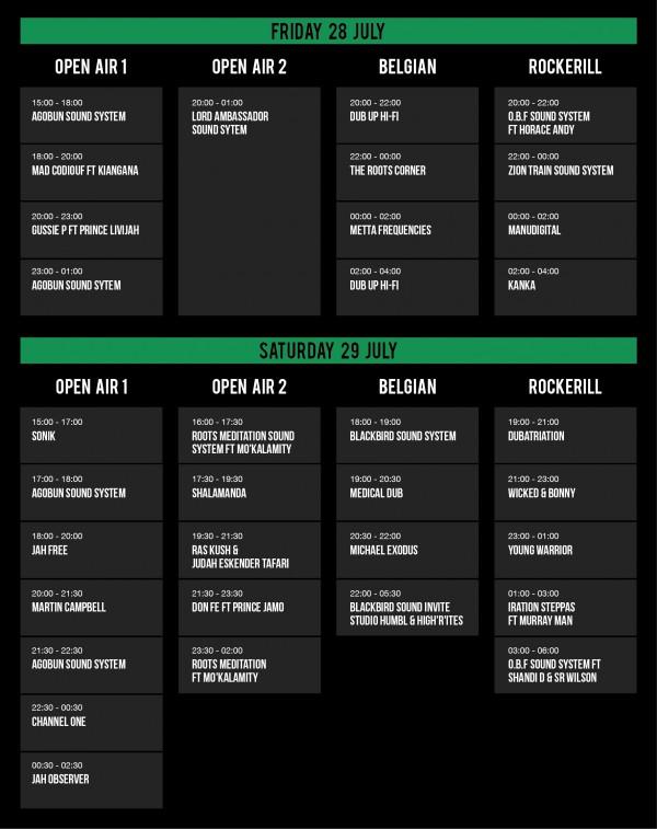 Reggaebus festival 2017 timeline