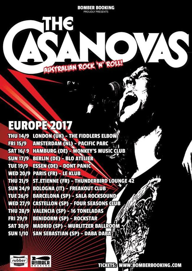 The Casanovas, France, concerts, Paris, Saint-Etienne