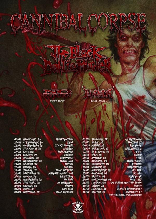 Cannibal Corpse EU+UK Tour