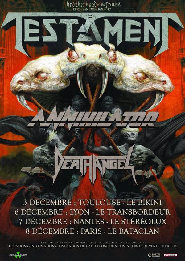 Testament, thrash, Annihilator, Death Angel,