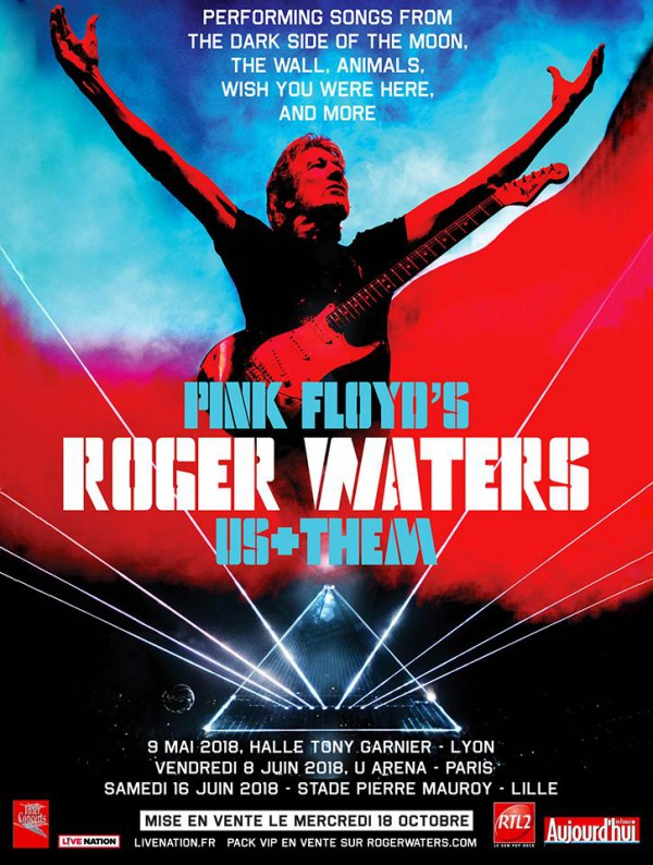 roger waters, pink floyd, us + them, us and them, tournée, france, concerts, live nation
