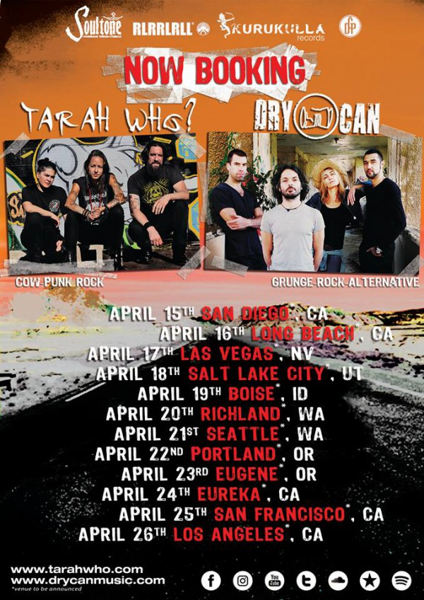 dry can, tarah who, usa, tour, 2018