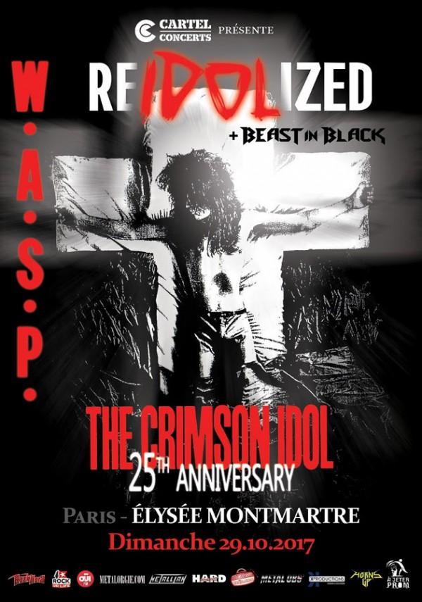 WASP, USA, heavy, tour, europe, 2017, reidolized tour, The Crimson Idol, beast in black