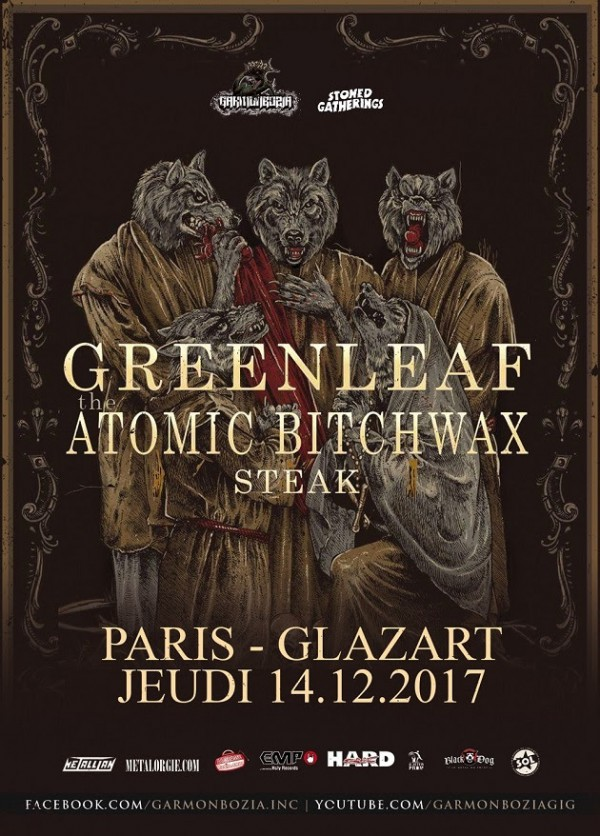 Steak, Glazart, The Atomic Bitchwax, Tour