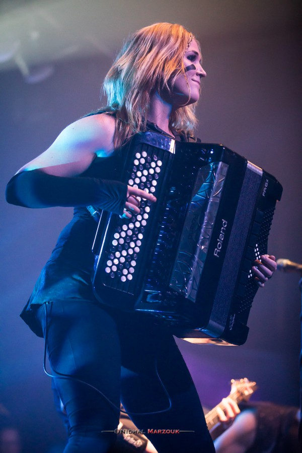 Netta Skog, Ensiferum, Accordion, 2017, Paris