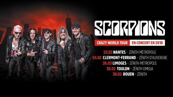 scorpions, tournée, album, 2018, allemagne, concerts, live, 50