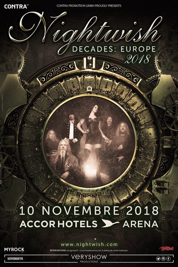 nightwish, nouvelle tournée, decades, 2018, concerts, paris, bercy, finlande, symphonique, holopainen