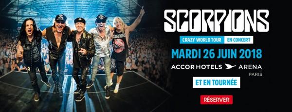 scorpions, tournée, album, 2018, allemagne, concerts, live, accor hotel arena, paris