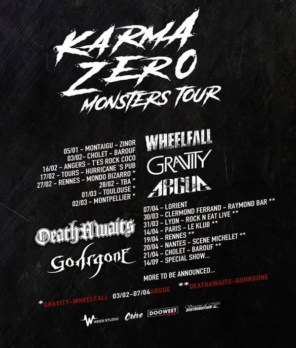 karma zero, monsters, tournée, hardcore, 2018, nantes, france, concert, live
