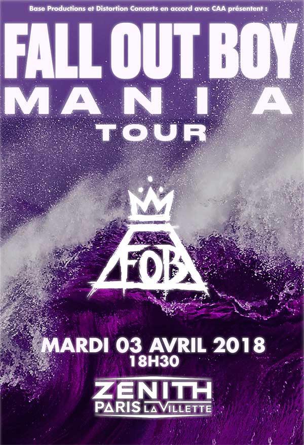 Fall Out Boy, Against the Current, concert, live, sortie, Paris, Zénith, 2018