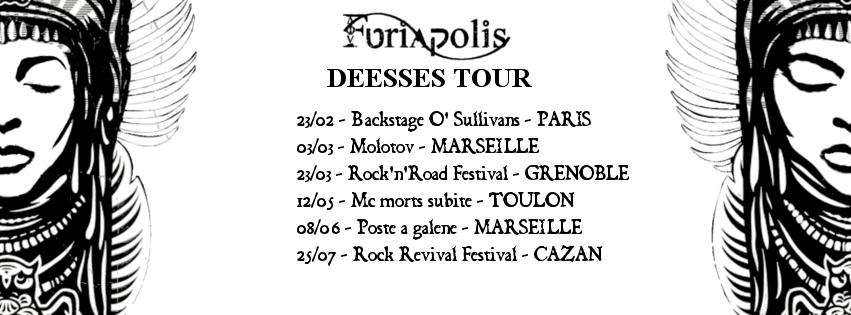Furiapolis, Déesses, tournée, 2018, France