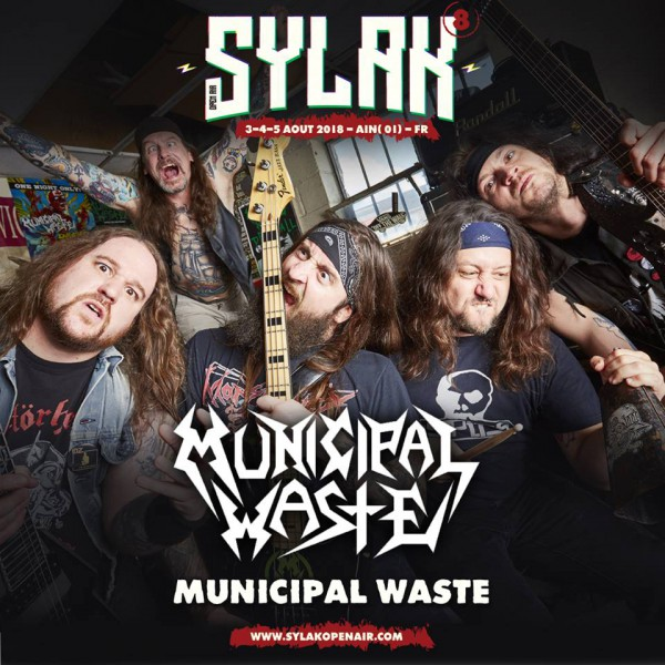 municipal waste, sylak open air, sylak, 2018, metal, l'oeil du cyclone, the rock runners