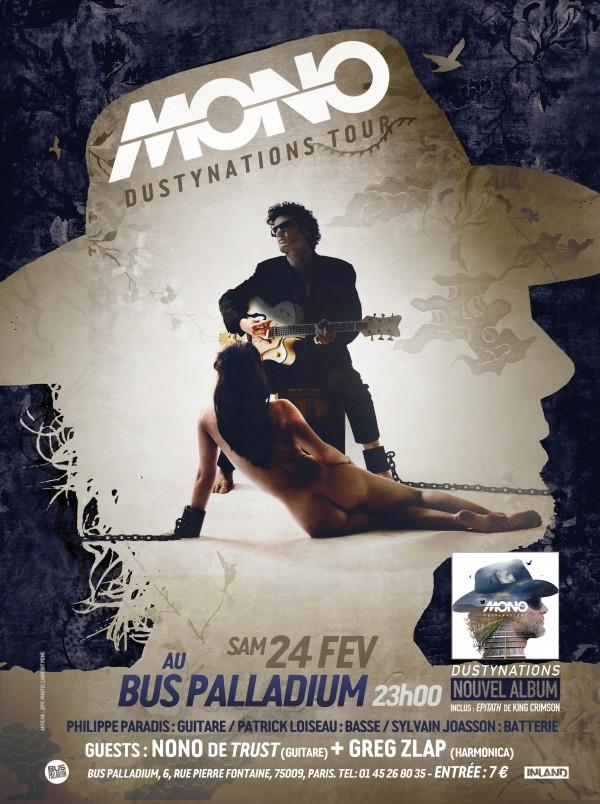 Pascal Mono, Bus Palladium, concert, Paris, février 2018