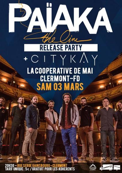 Païaka - Release party - La Coopérative de mai - Clermont Ferrand