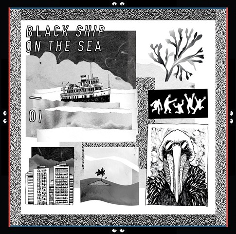 Black Ship On The Sea vinyl cover