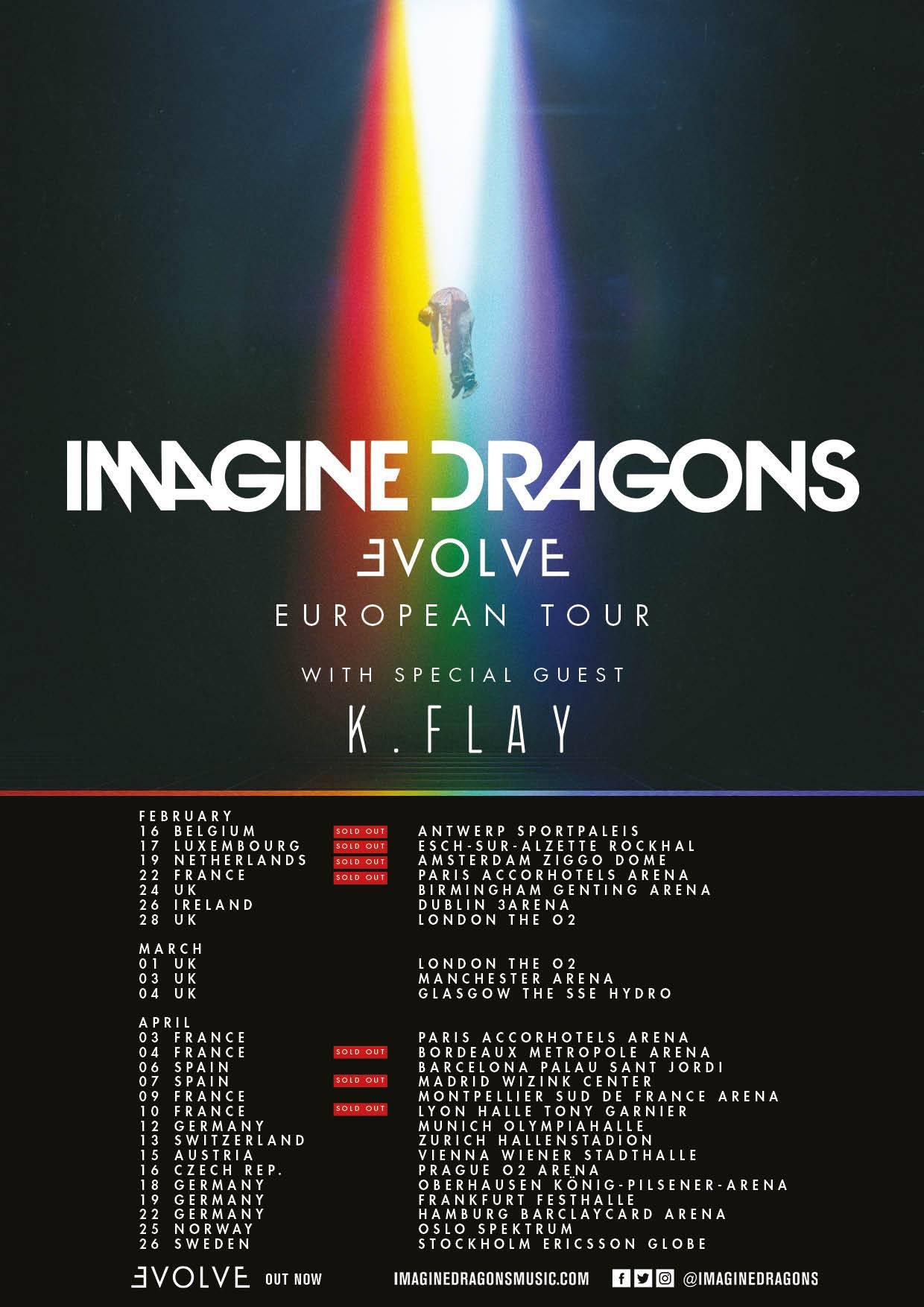 imagine dragons, lyon, 2018, concert, paris, rock