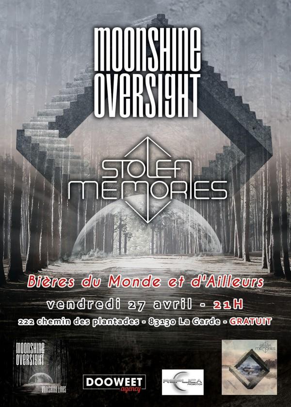 2018, concert, moonshine Oversight, Stolen Memories, metal progressif