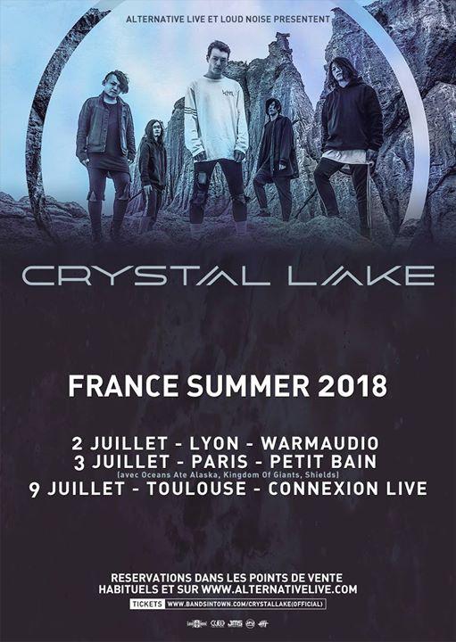 crystal lake, japon, tournée, france, lyon, paris, toulouse