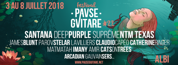 Festival, 2018, Santana, Deep Purple, Matmatah, Albi, Rock, Pop