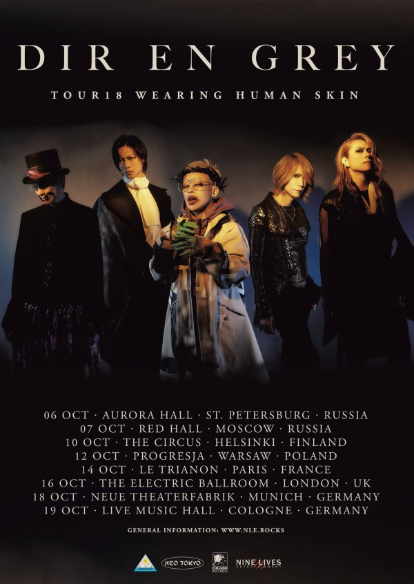DIR EN GREY - TOUR18 WEARING HUMAN SKIN