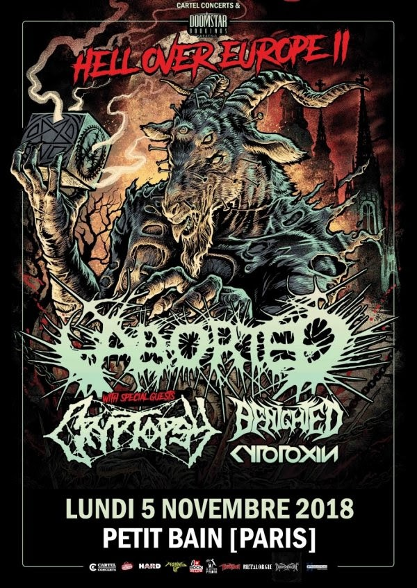 nouvel album, concert, petit bain, aborted, brutal death metal, cryptopsy, benighted, cytotoxin