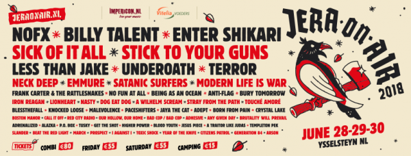 jera on air, netherlands, festival, nofx, enter shikari
