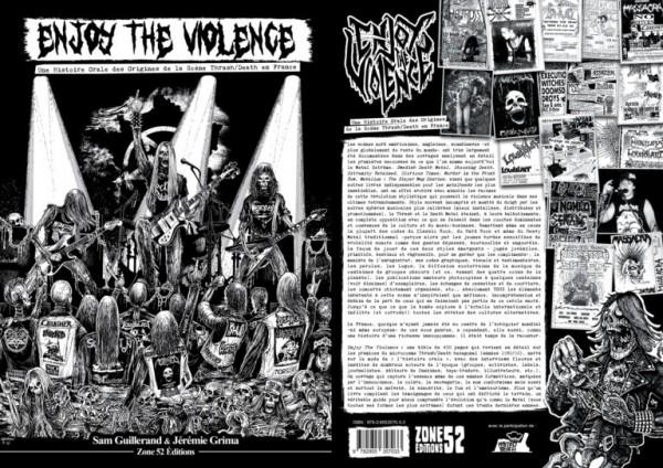 Enjoy the Violence, livre, sam Guillerand, Jeremie Grima, metal, thrash, death, français