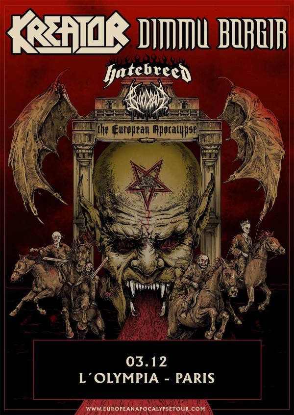 Kreator, Dimmu Borgir, Olympia, live, metal, bloodbath, hatebreed,