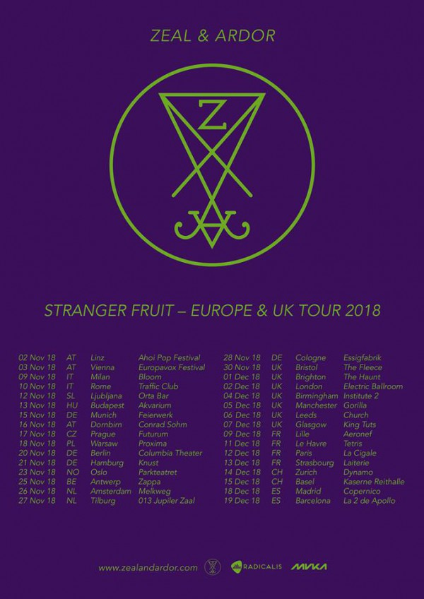 Zeal & Ardor Tour 2018