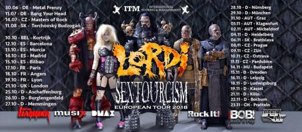 Lordi, Sextourcism, European Tour, 2018, Sexorcism,  AFM, Heavy Metal, Rock