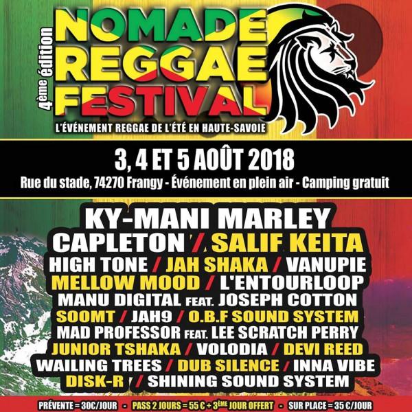 nomade reggae, festival, frangy, ky-mani marley